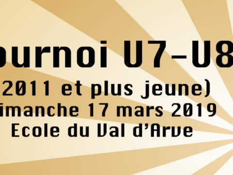 3ème tournoi des Savanes – dimanche 17 mars 2019 à la salle du Val d'Arve (Carouge)